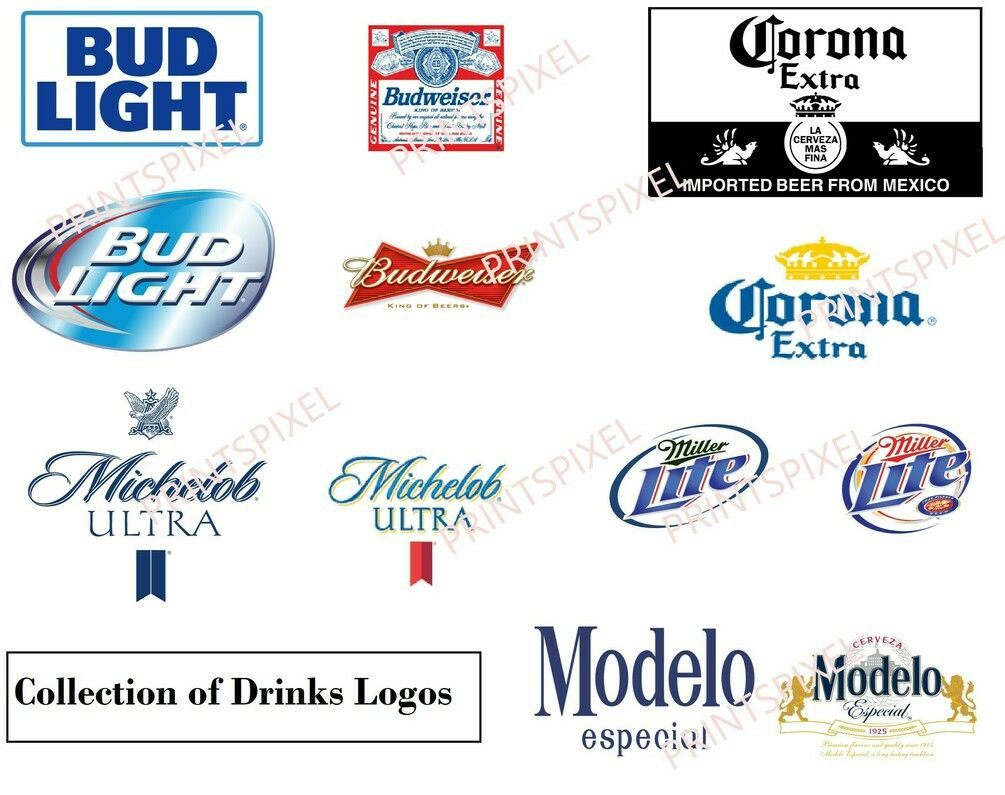 Digital Download Combo of 6 Beer Company Logo Files SVG