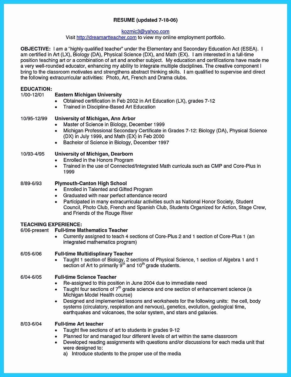 Teacher Assistant Job Description Resume Elegant Grabbing Your Chance With An Excellent Assistan In 2020 Teaching Resume Examples Teacher Resume Teacher Assistant Jobs