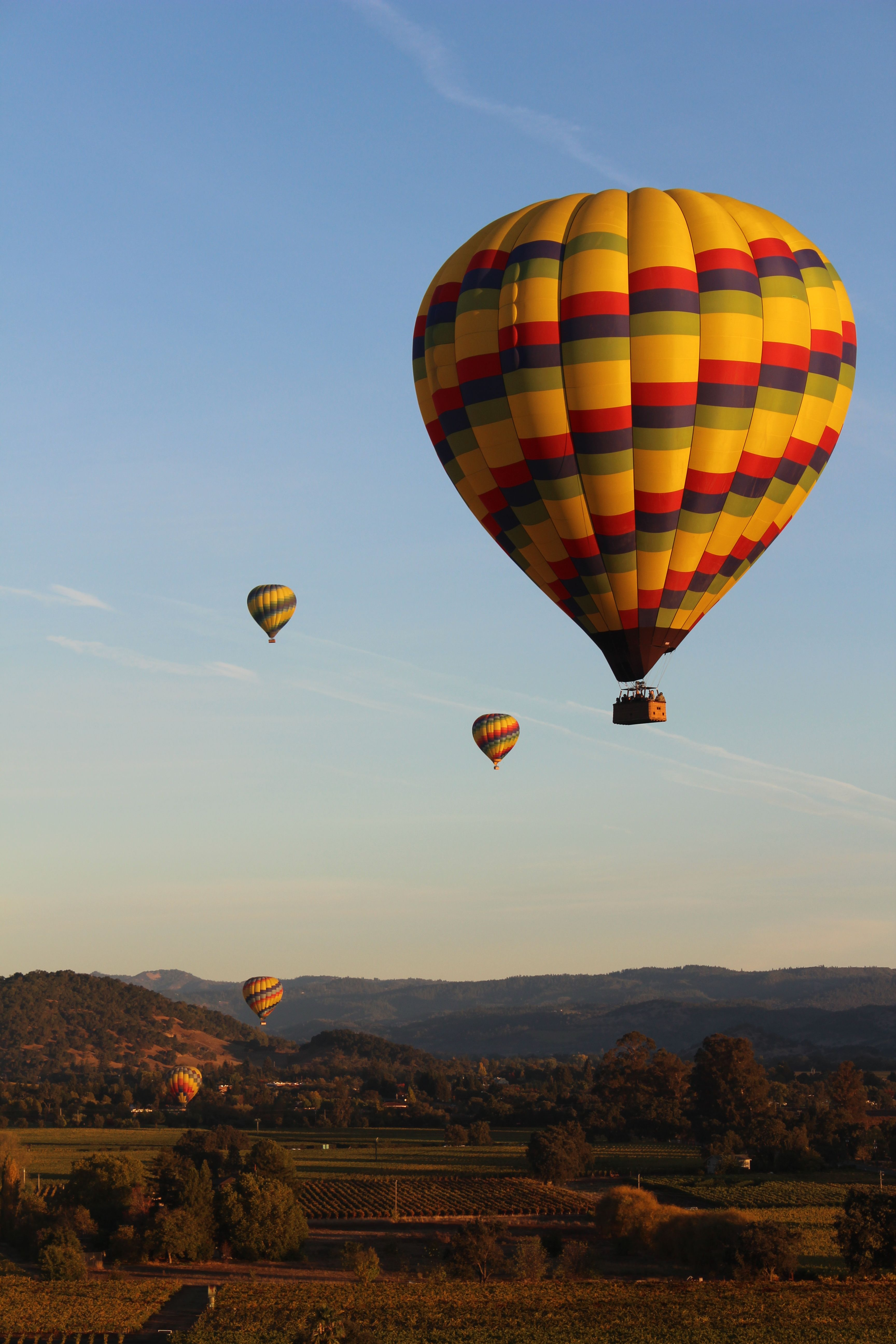 Week 1 Composition Hot Air Balloons over Napa Hot air