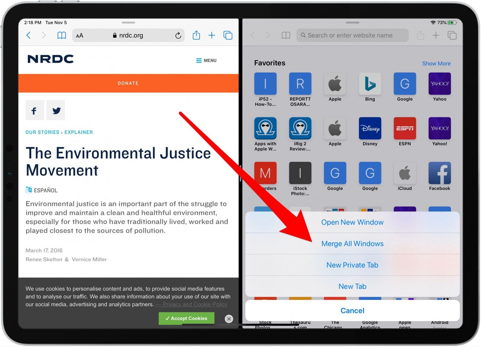 How to get rid of split screen on your ipad iphone