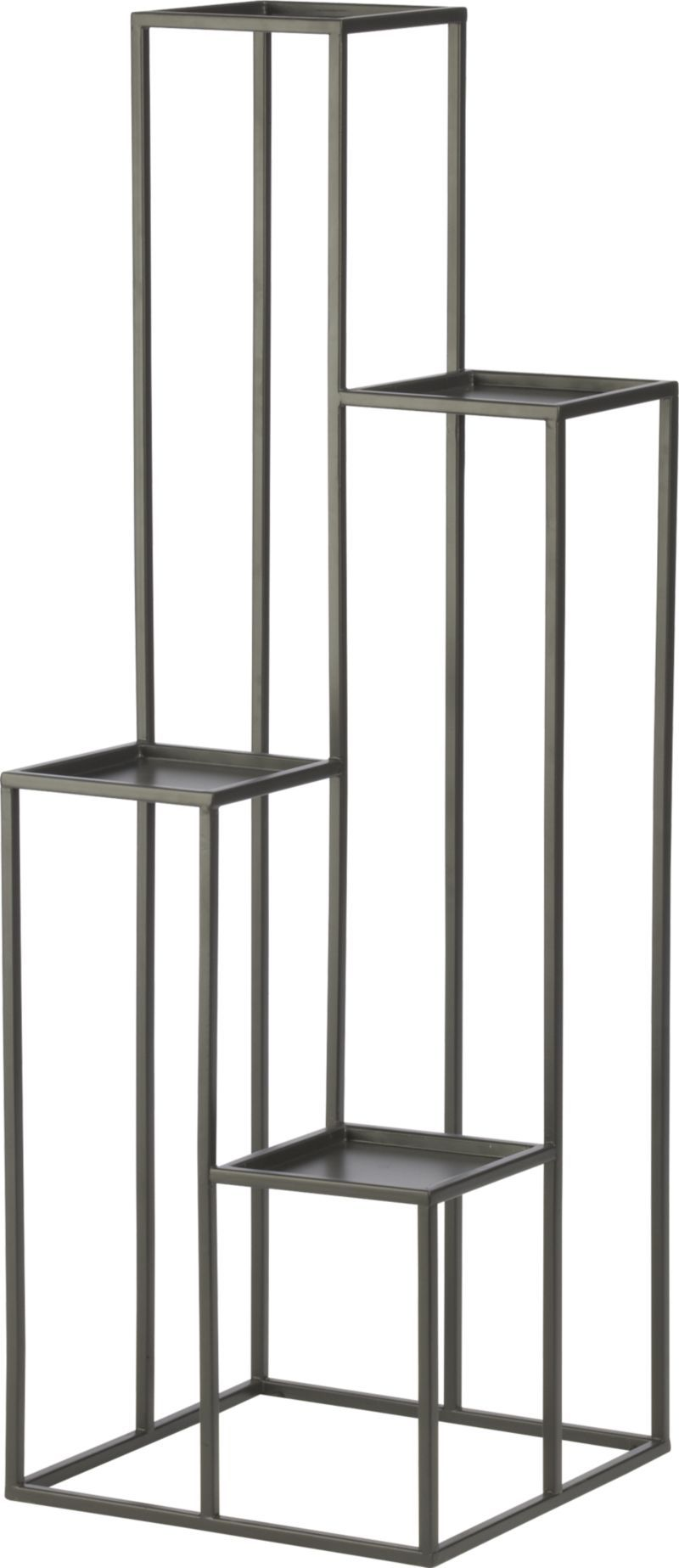 quadrant plant stand in garden patio crate and barrel jorge