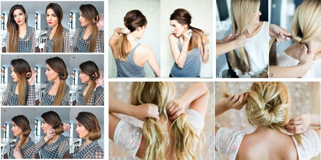 8 Simple Hairstyle Ideas Ready For Less Than 2 Minutes Bafbouf In 2020 Easy Hairstyles Hair Styles Long Hair Styles