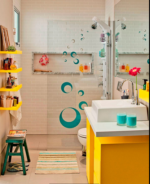 Dise o de ba os en espacios peque os artesydisenos for Diseno decoracion espacios