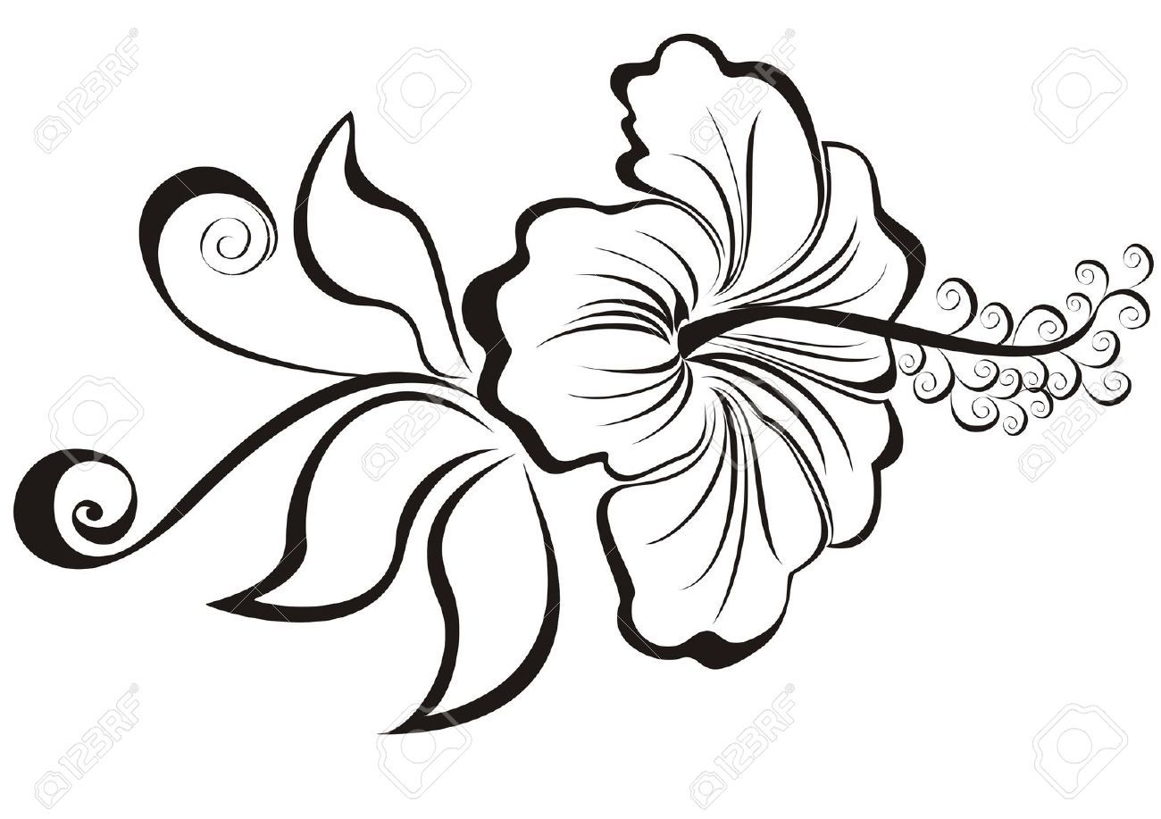 Stock Vector With Images Hibiscus Tattoo Hawaiian Flower