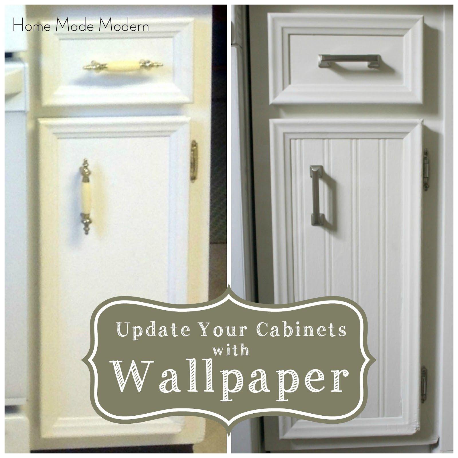 Updated Kitchen Cabinets Home Made Modern Wallpaper For Kitchen Cabinets Update Kitchen Cabinets Kitchen Wallpaper