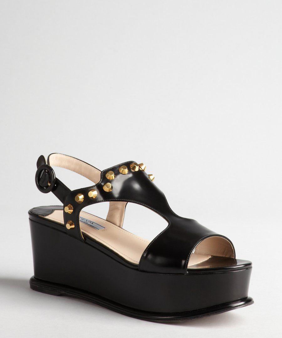 Sandals - Buckle Logo Sandals Leather Black - black - Sandals for ladies Prada 595l5LpWM