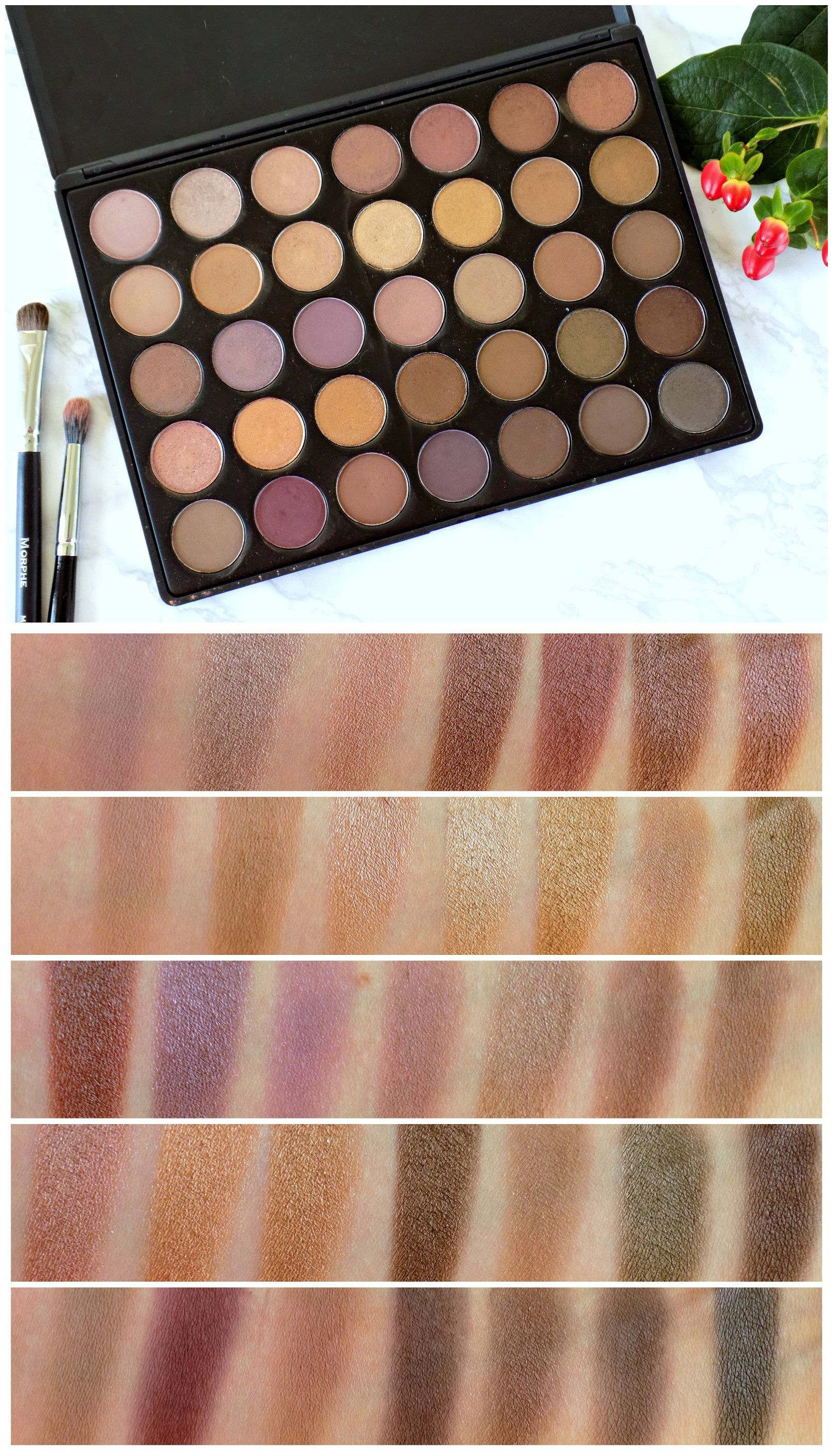 Morphe 35k eyeshadow palette review beauty in bold - Morphe 35t Palette Swatches