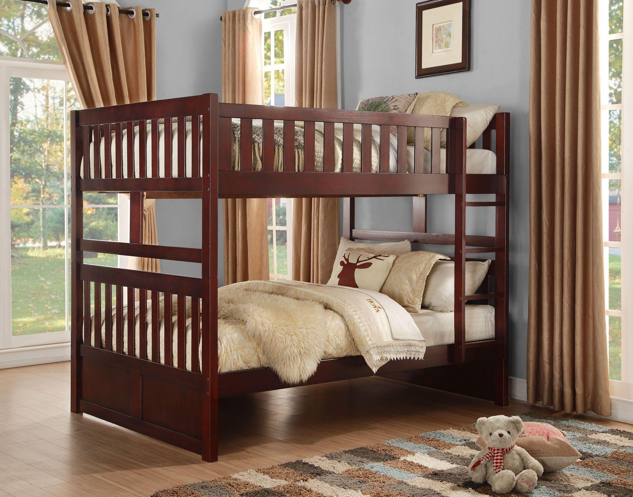 Best Rowe Full Over Full Bunk Bed Bunk Beds Wood Bunk Beds 400 x 300