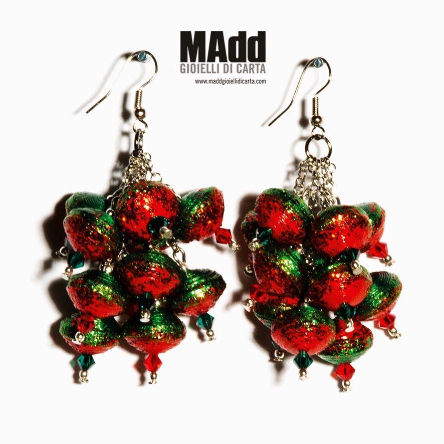 MAdd Gioielli di carta / MAdd Paper jewels: AUTUMN WAVE - Orecchini e bracciale / Earrings and...