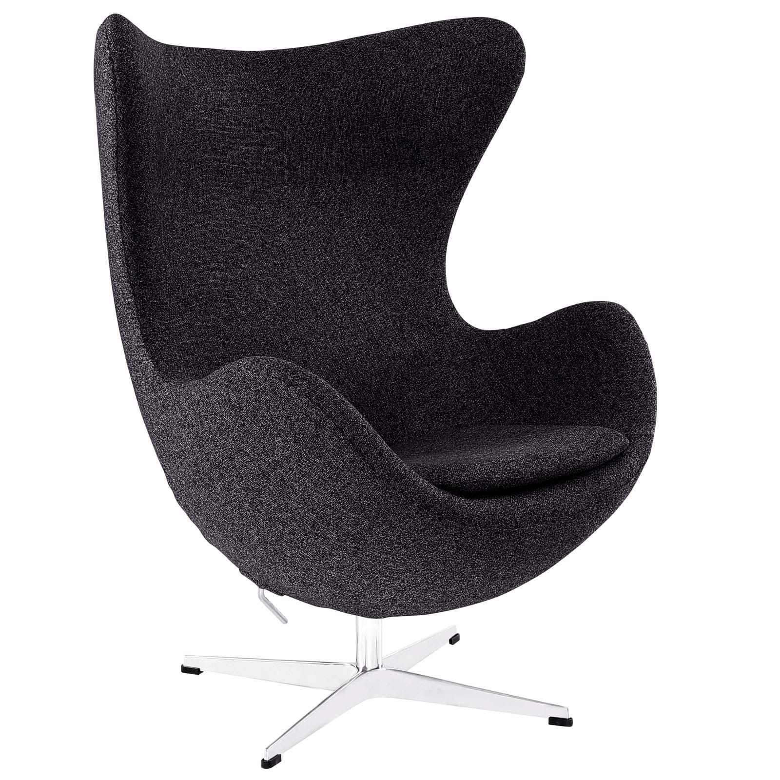 GLOVE WOOL LOUNGE CHAIR IN RED
