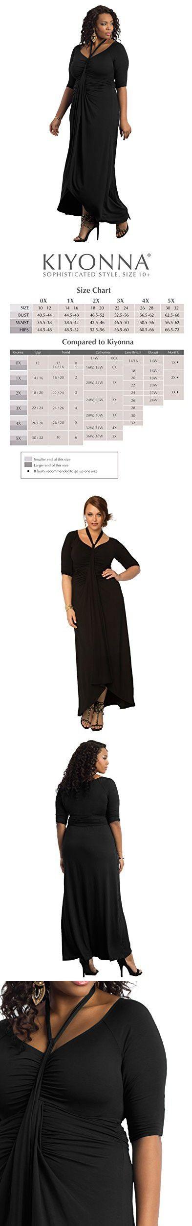 Kiyonna Women S Plus Size Divine Draped Maxi Dress 4x Black Noir Drape Maxi Dress Maxi Dress Casual Dresses [ 2500 x 393 Pixel ]