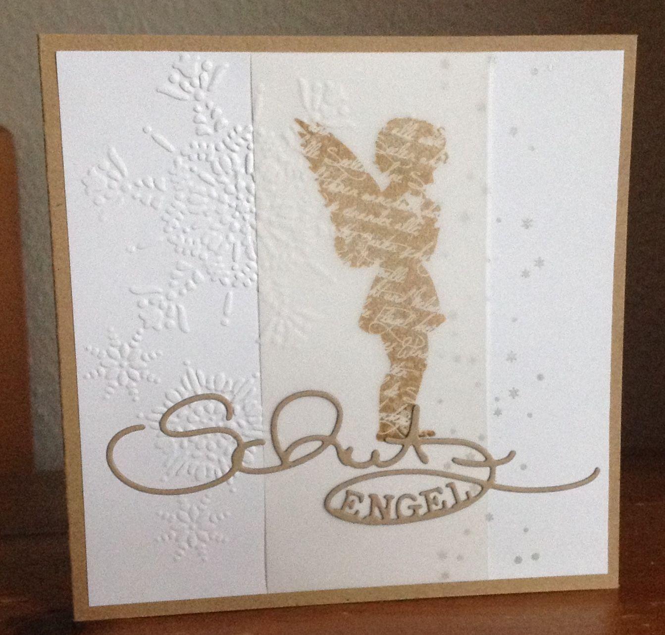 Weihnachtskarte alexandra renke stempel engel und stanze schutzengel alexandra renke - Pinterest weihnachtskarten ...