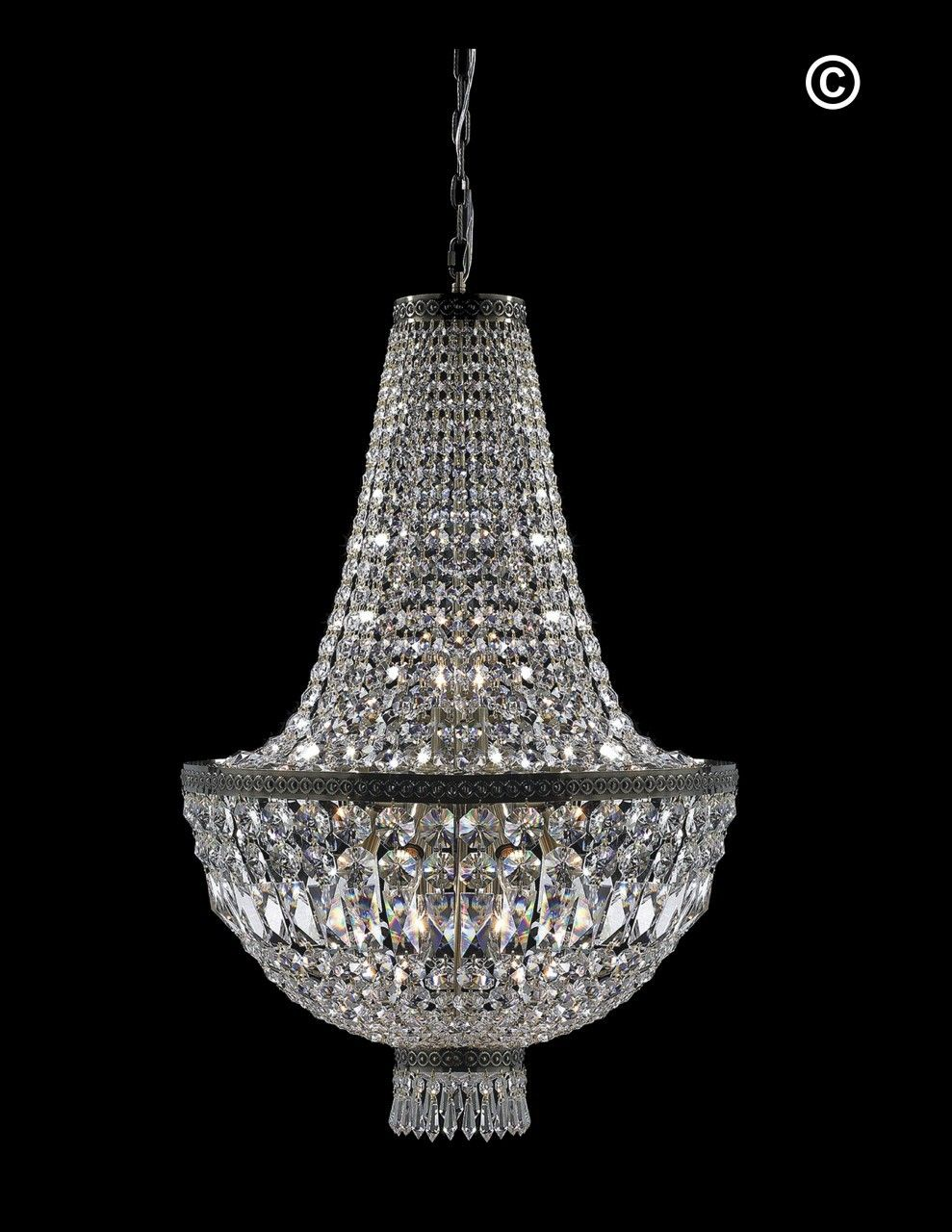 French Basket Chandelier Antique Bronze 8 Light Designer Australia Pty Ltd
