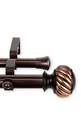 Rod Desyne Baldir 1 Inch Double Curtain Rod Bronze 160 240 In