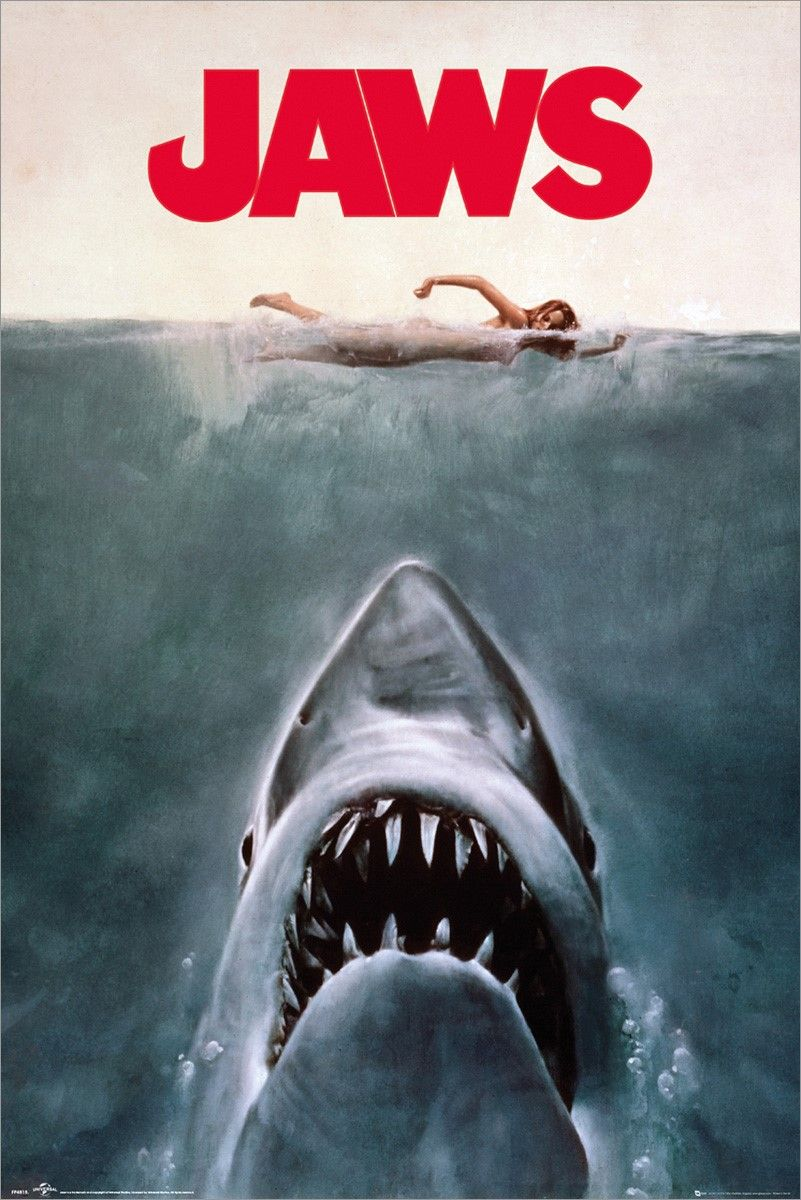 Jaws Poster In 2020 Jaws Movie Jaws Movie Poster Famous Movie Posters