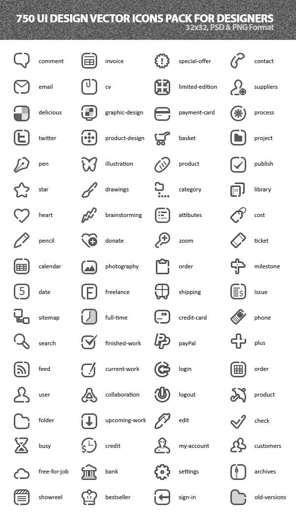 700 Free Vector Icons For User Interface Design Small Icons Icon Design Icon