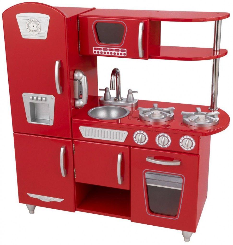 Red retro kitchen baby accessories pinterest