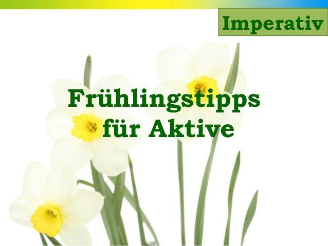Imperativ Frühlingstipps