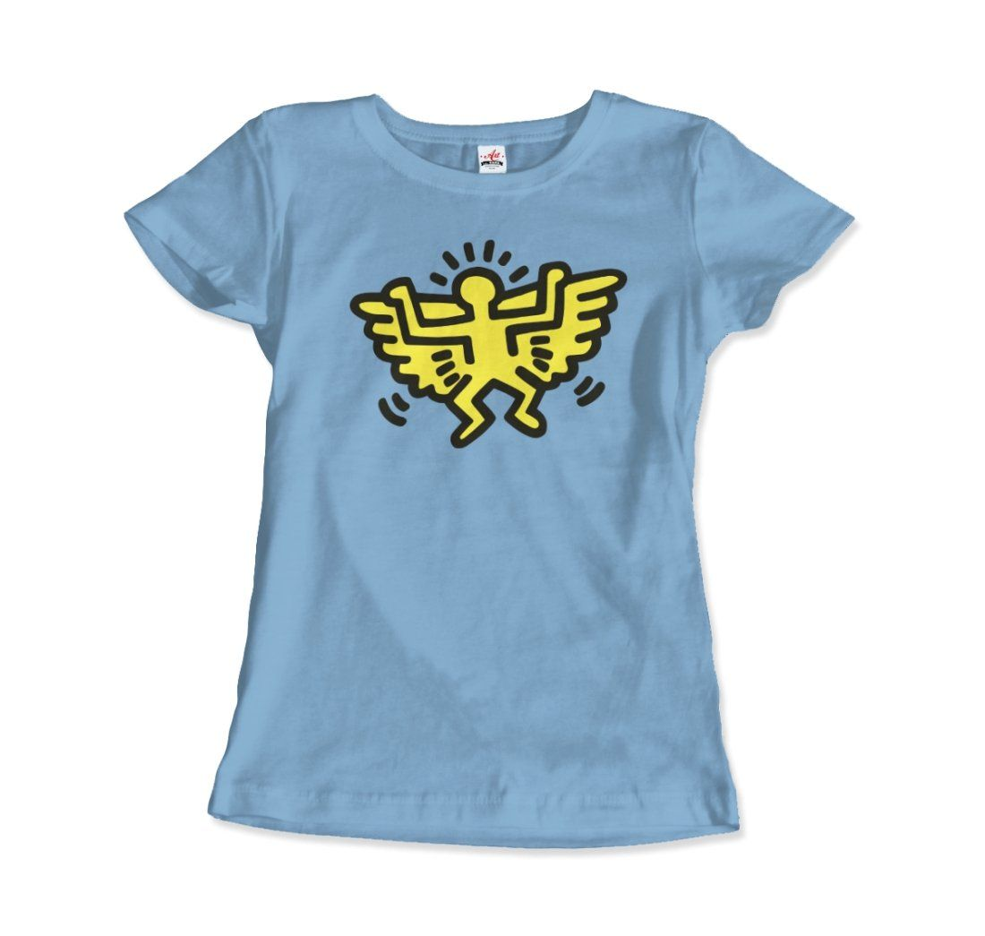 This beautiful tee features a unique artwork from the Icons Series. It captures Haring's pop-graffiti aesthetic. Alongside Jean-Michel Basquiat, Kenny Scharf, and Jenny Holzer, Haring is regarded as a leading figure in New York East Village Art scene in the 1970s and '80s. Our super soft and smooth jersey t shirt fits like a well-loved favorite, featuring a crew neck, short sleeves and designed with superior combed and ring-spun cotton. Main features include: 4.3 oz/yd 100% Combed Ring Spun Cott