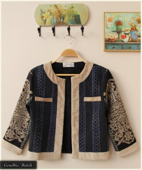 Tenun Lawas (depan) | Tenun | Batik dress, Batik blazer ...