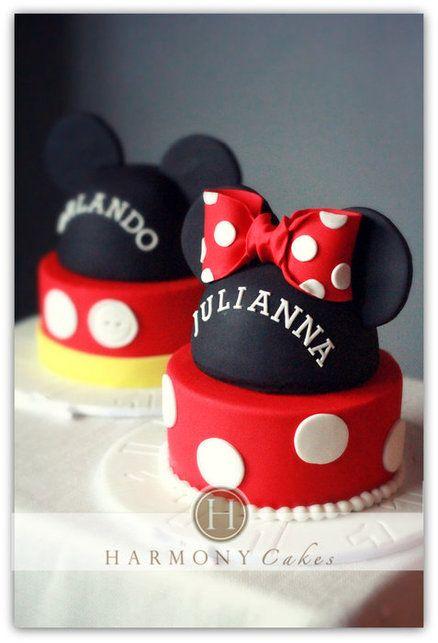 Festa de aniversrio tema Mickey e Minnie Mouse cake Mickey