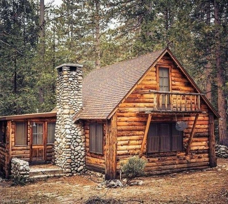 20 Best Small Log Cabin Ideas With Awesome Decoration Trenduhome Luxury Log Cabins Small Log Cabin Log Cabin House Designs