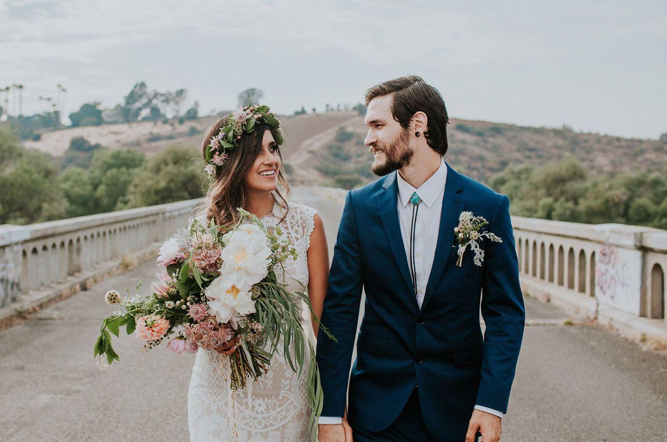 Bohemian california garden wedding brittany andrew green wedding