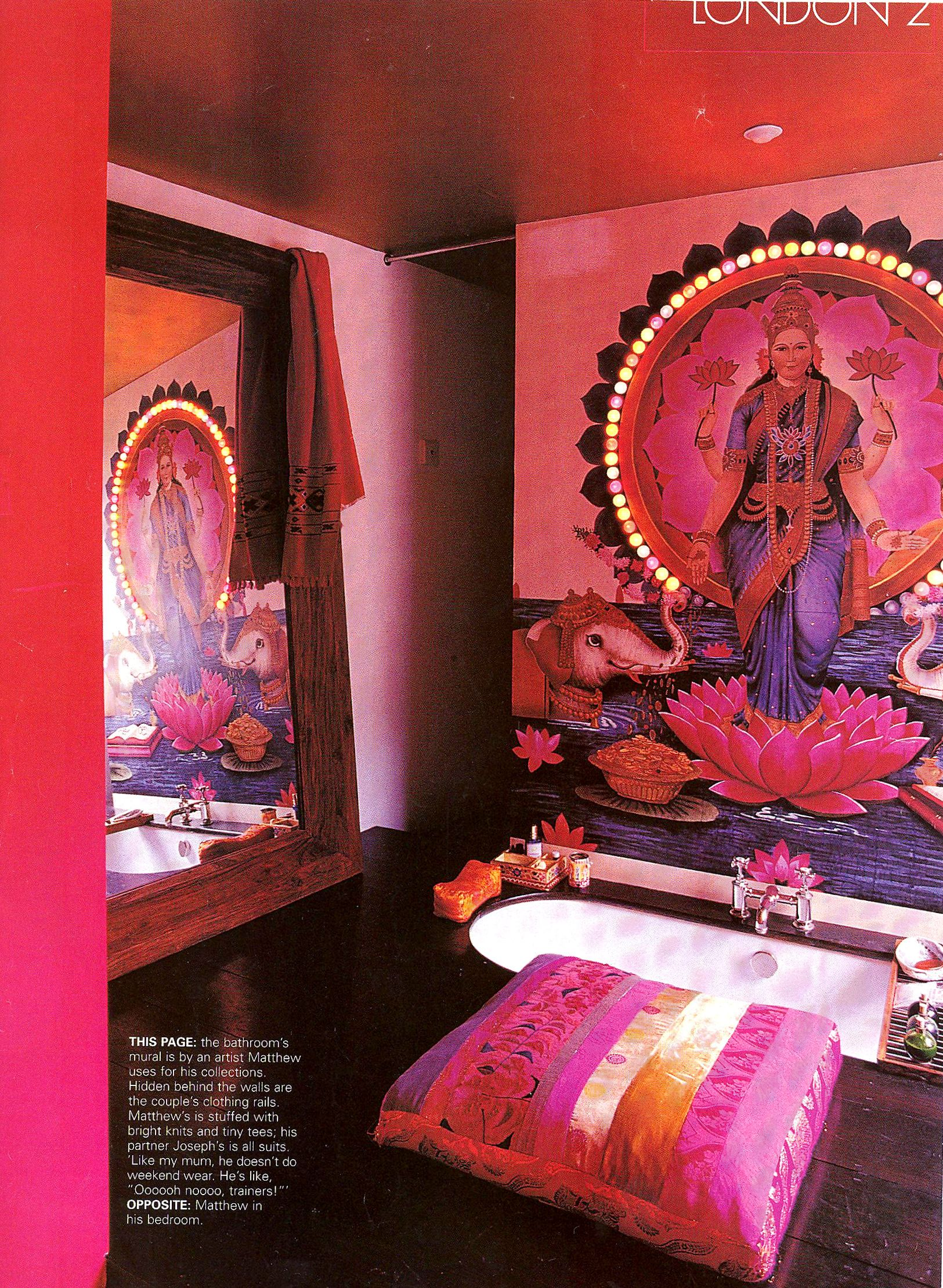 i love this exotic indian inspired bathroom. diane vreeland the
