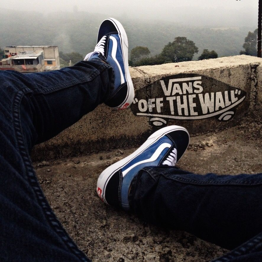 Vans Old Skool Navy Instagram Kire1417 Colors Outfit Black Blue And White