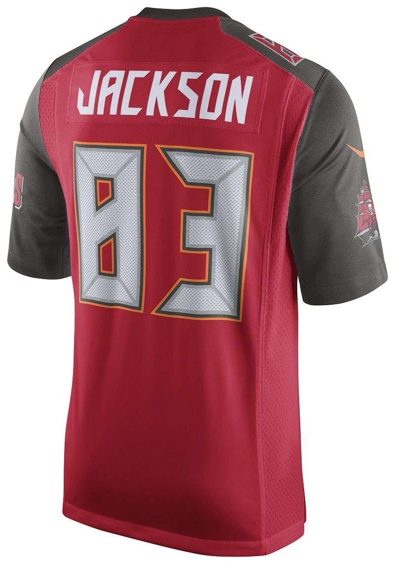 Buccaneers youth red game vincent jackson 83 jersey with