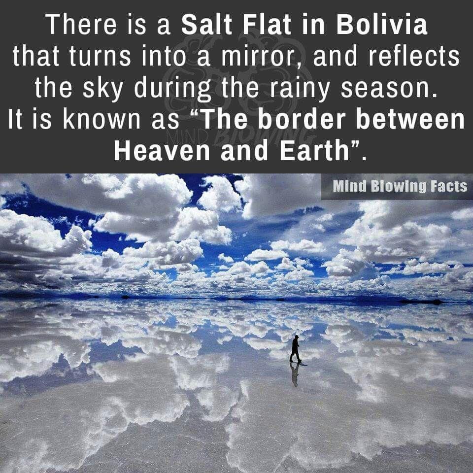 The border between heaven & earth. beautiful salt lake in Bolivia