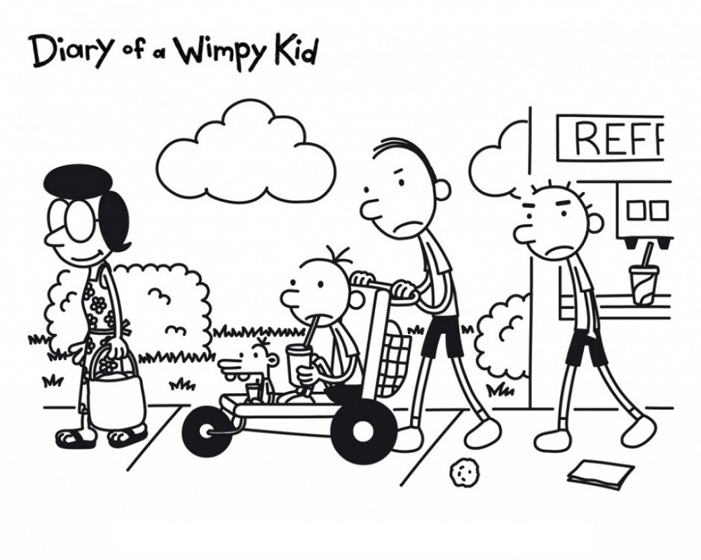 Diary Of A Wimpy Kid Coloring Pages Printable Shelter In 2020 Coloring Pages For Kids Wimpy Kid Coloring For Kids
