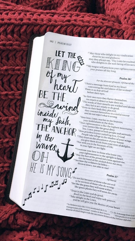 25 + › KÖNIG MEINES HERZENS – Bible Journaling #bible