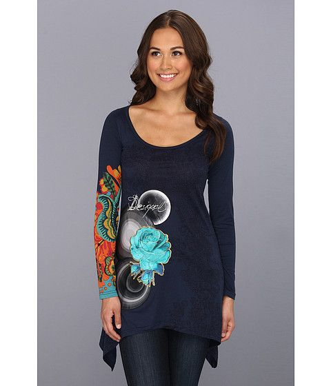 Causal tunic top from Desigual. #colorlove #zappos