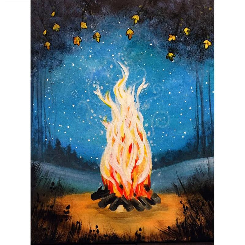 Photo of Camp Fire Diamond Painting Kit