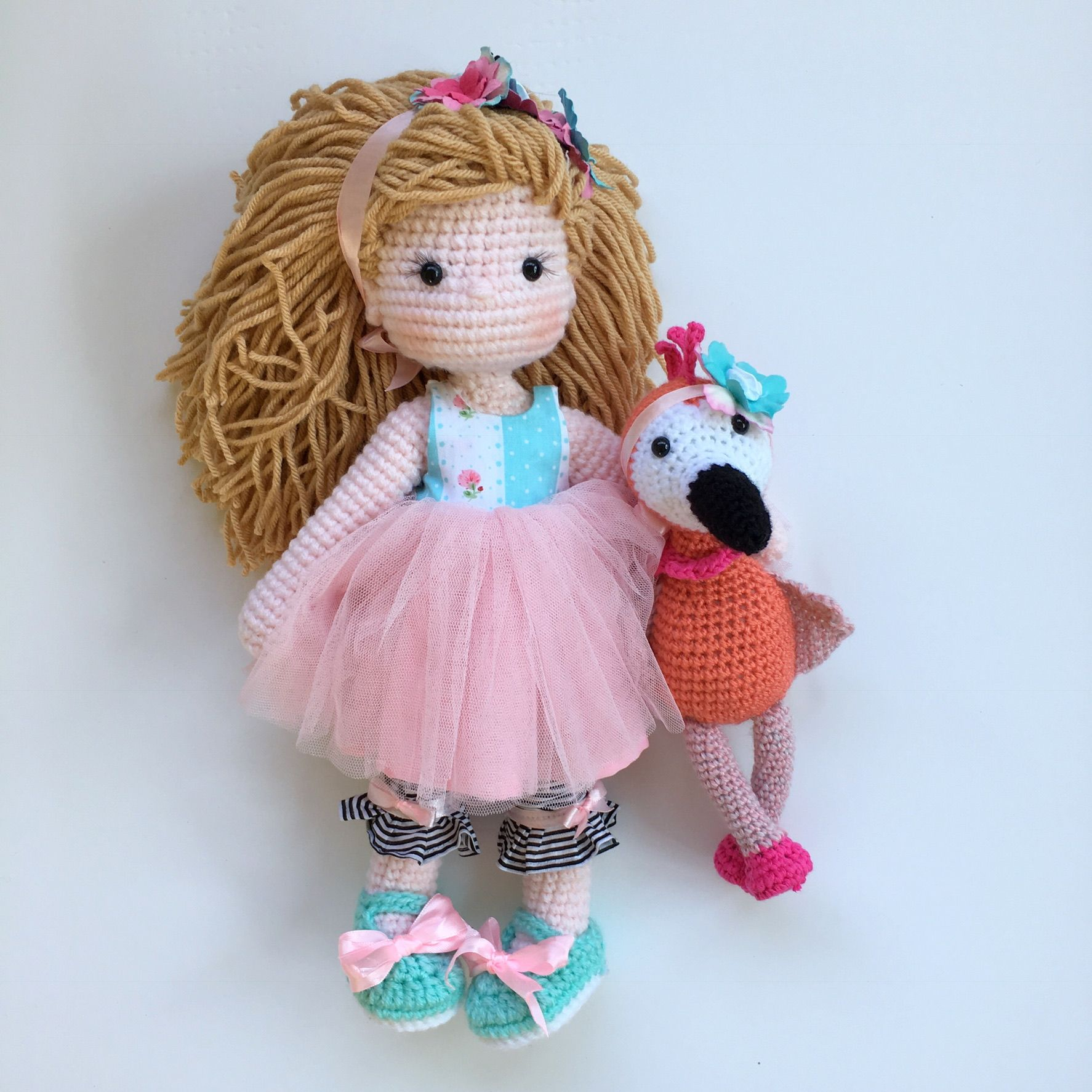 Crochet Amigurumi doll and flamingo Nathaliesweetstitches | Куклы ...