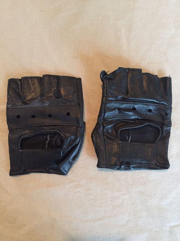 0536e0191 Faux Leather Fingerless Gloves Black   Costume - Michonne   Gloves ...