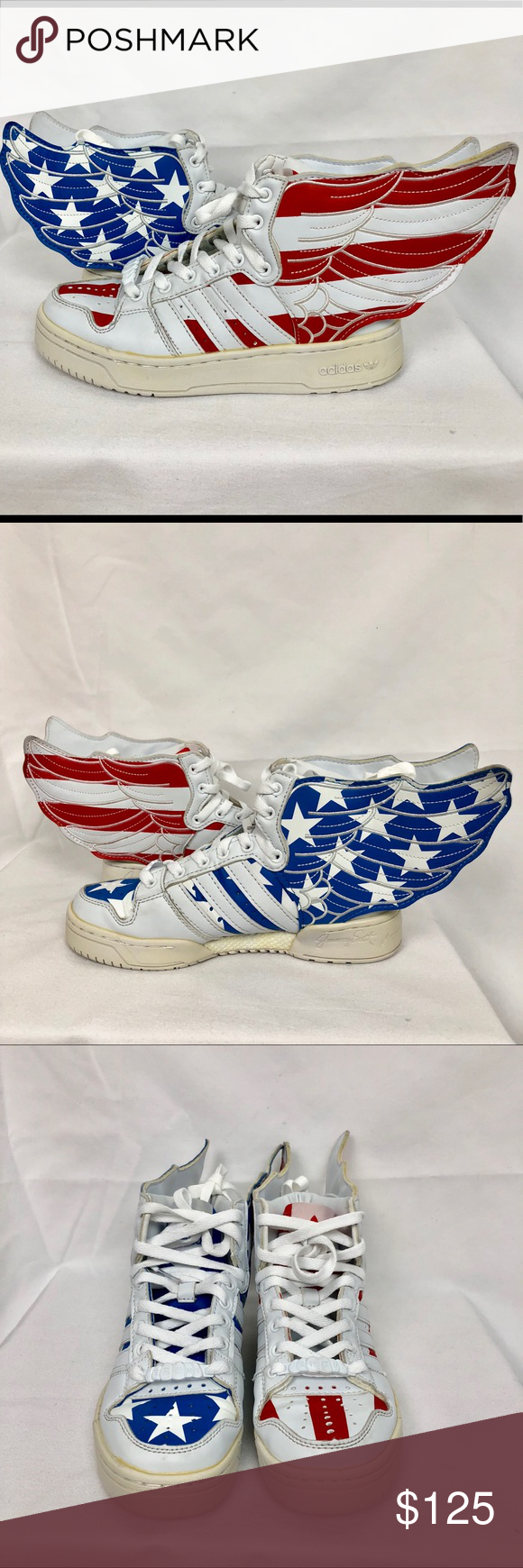 2f113dc732ae JEremy Scott Wings 2.0  Old Glory  Sneakers Pre-owned rare Adidas Jeremy  Scott old glory wings shoes in size 5 Shoes are in good condition the only  thing is ...