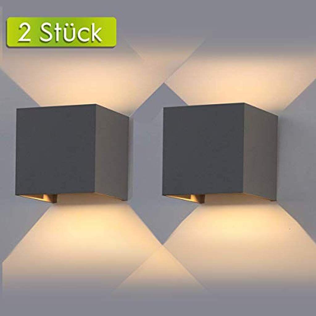 Ailuki Led Wandlampe Wandleuchte Innen Aussen 2er 12w 2800 3000k Warmweiss Aussenleuchte Wandbeleuchtung Led Aussen Wandbeleuchtung Led Wandlampen Innenbeleuchtung