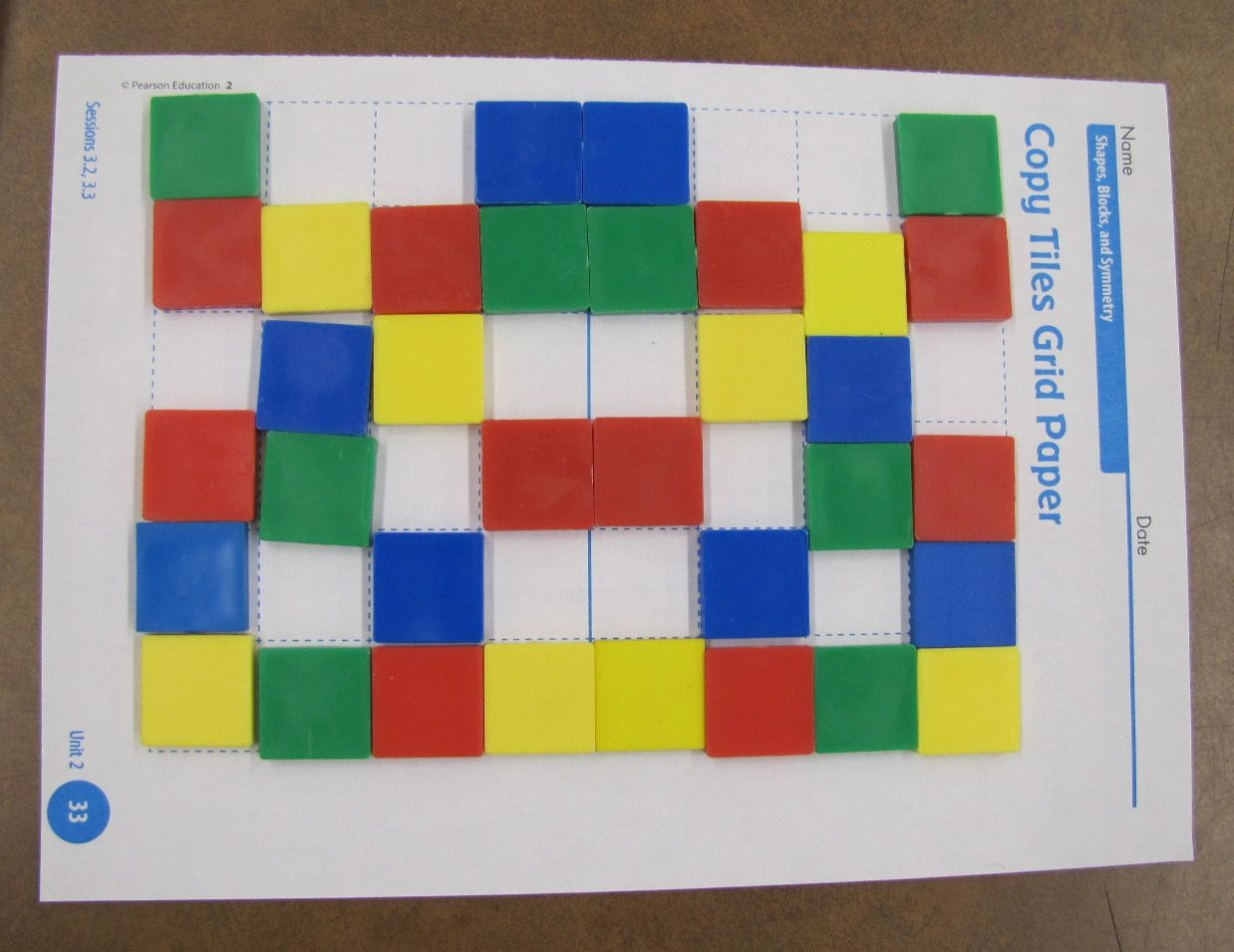 Students Play This Game Of Symmetry With A Partner One