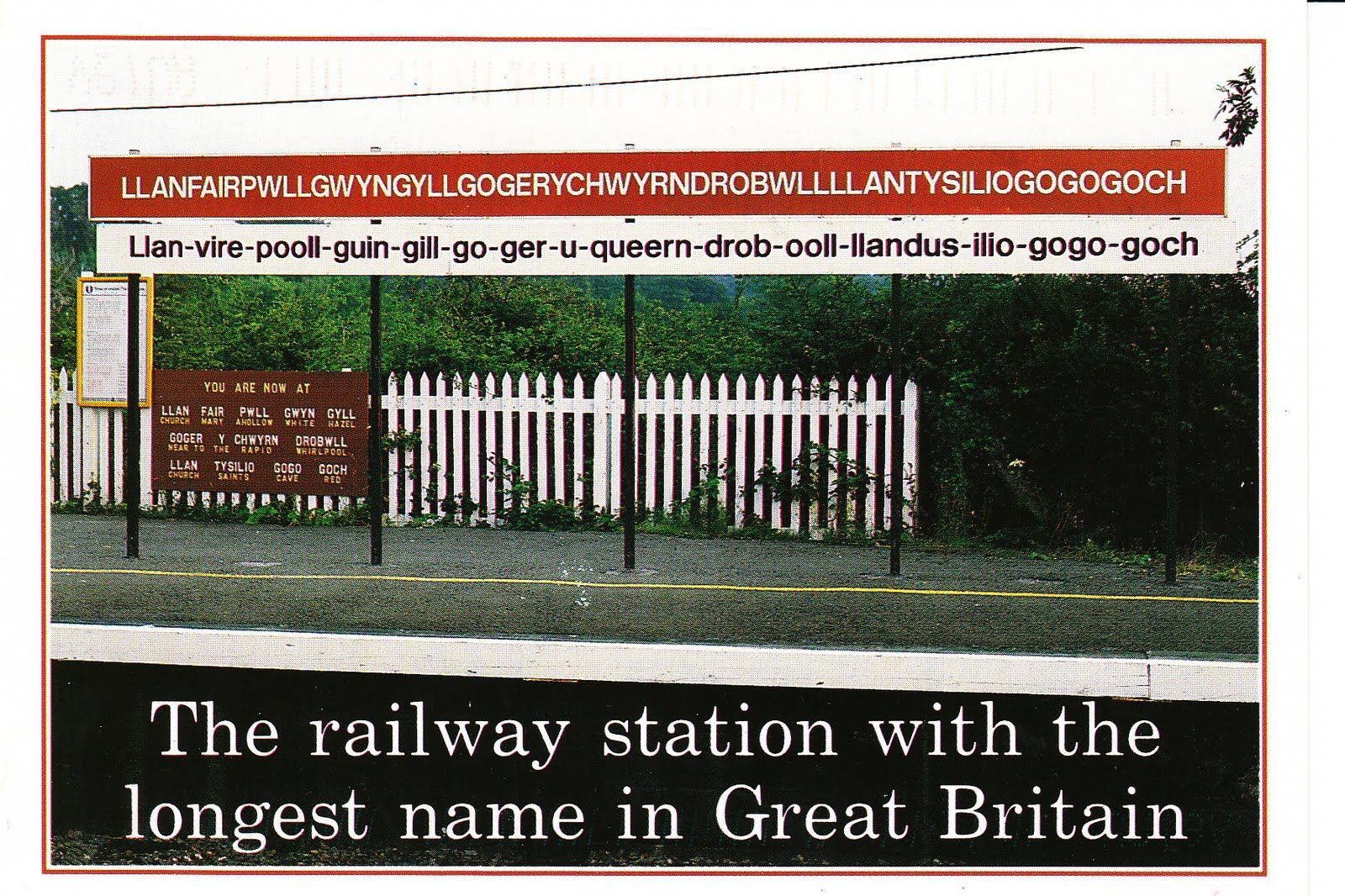 Train Station In Wales With Longest Place Nave In Britain