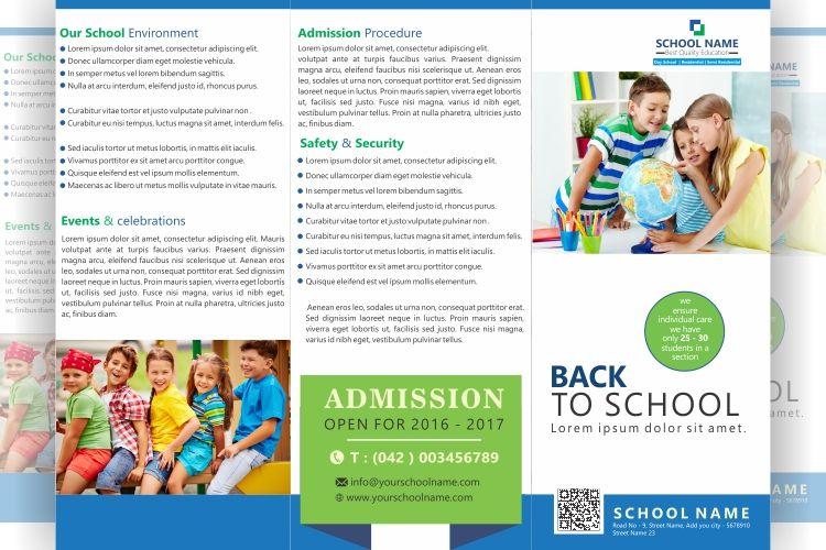 FREE tri fold school brochure Design  File formats PSD, AI, CDR - microsoft word tri fold brochure template