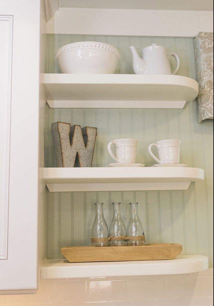 white open shelving in kitchen with custom kitchen window treatment rh pinterest com custom kitchen shelves indianapolis