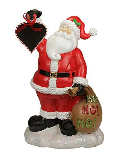 Christmas Vacation Store Girl: 19 Festive Santa Claus Holding Toy Sack And Blackboard