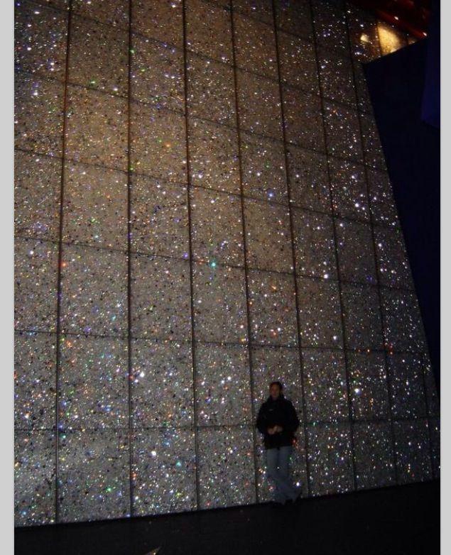 Diamond bling wall
