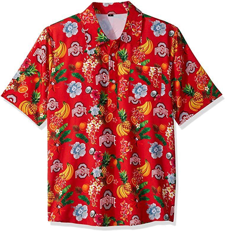 FOCO Mens Fruit Flair Short Sleeve Polo Shirt