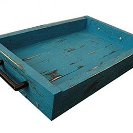 Cool Wood Display Serving Tray 16 X 12 Turquoise Black Spiritservingveterans Wood Chair Design Ideas Spiritservingveteransorg