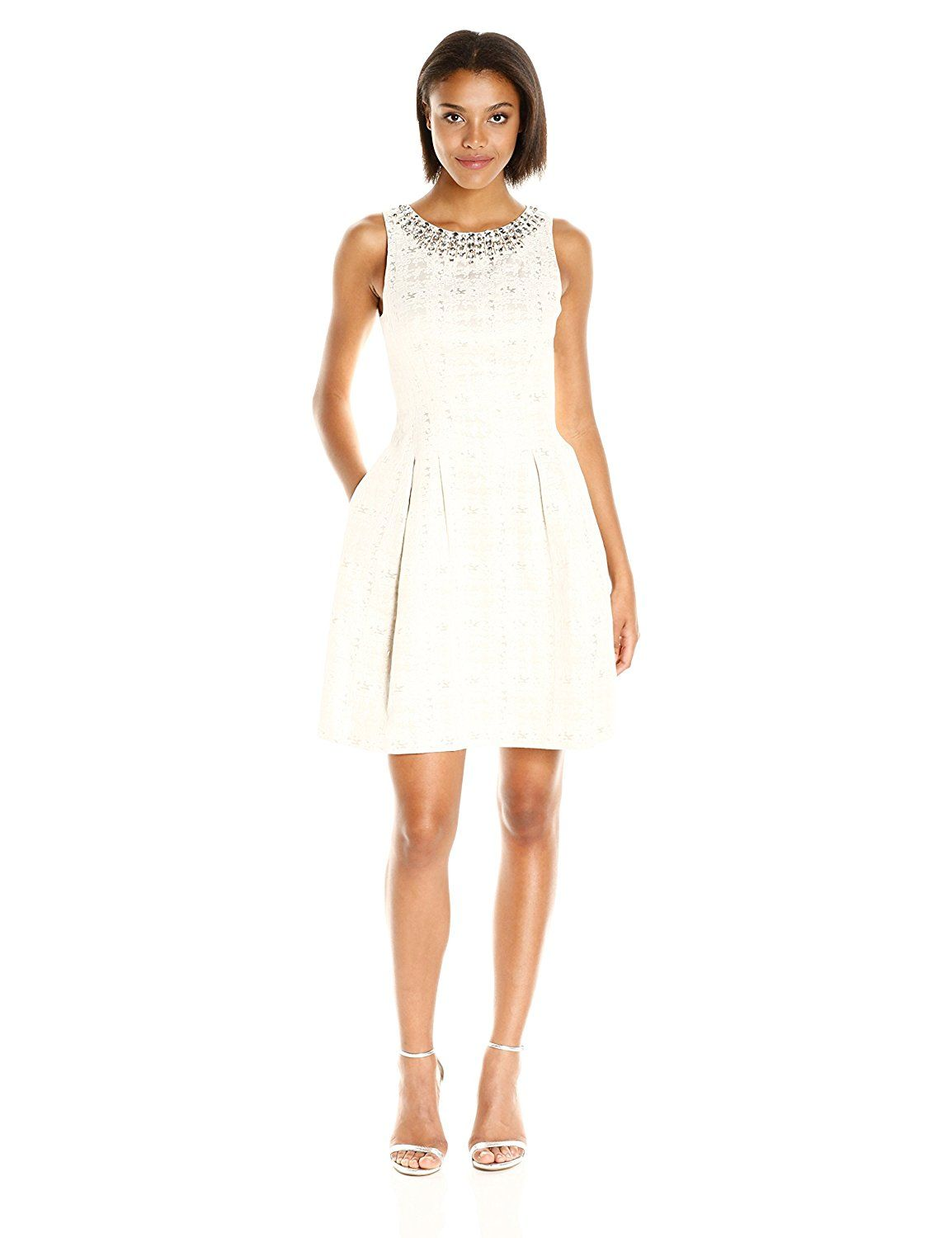 Vince Camuto Women 39 S Sleeveless Party Dress Ivory X2f Gold 6 At Amazon Women S Clothing Store Party Dress Dresses Fashion Design [ 1500 x 1154 Pixel ]