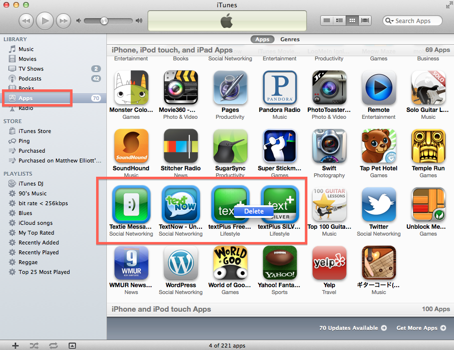 How to delete unwanted iOS apps from iTunes Iphone touch