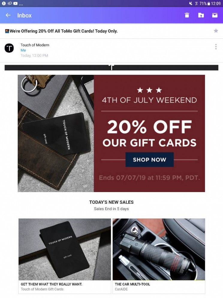 Touch Of Modern Gift Card Touch Of Modern Gift Card Touch Of